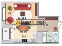 Продам 1 ком квартиру по адресу ул.Солнечный проезд 25 корп 1