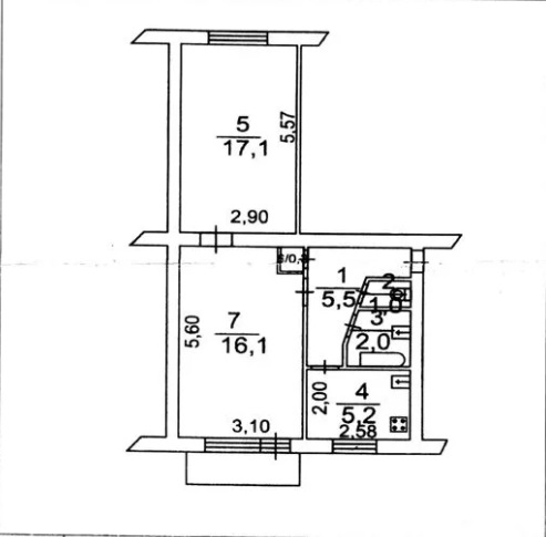Продам 2-комн. квартиру по адресу Россия, Ростовская область, Батайск, Заводская улица фото 0 по выгодной цене