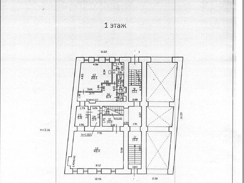 Продажа здания 848.20 кв.м. Адмиралтейский ул. Галерная, 61 - фотография №18