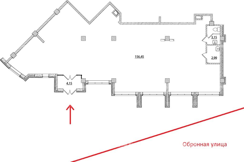 Аренда помещения 167.80 кв.м. Калининский ул. Оборонная, 37 корпус 1 - фотография №7