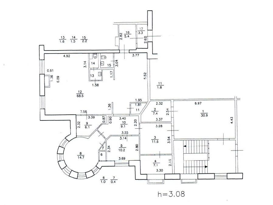 Аренда помещения 183 кв.м. Петроградский ул. Профессора Попова, 27 лит А - фотография №8