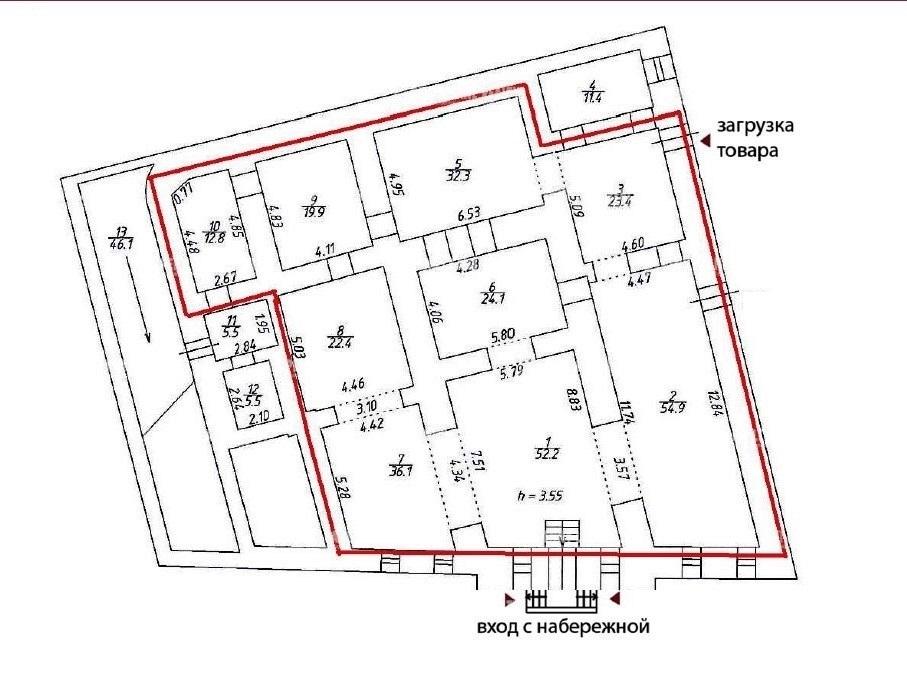 Аренда помещения 278.10 кв.м. Центральный наб. реки Мойки, 75 - на spret.realtor.ru - фотография №6