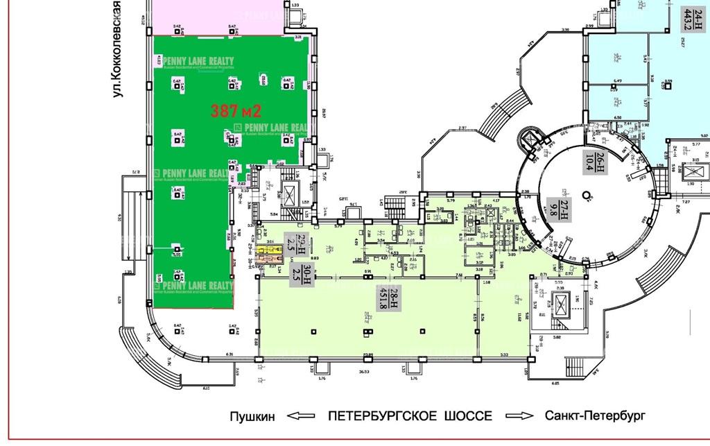 """аренда - """"ул. Кокколевская (Пулковское), 1"""" - на spret.realtor.ru"""
