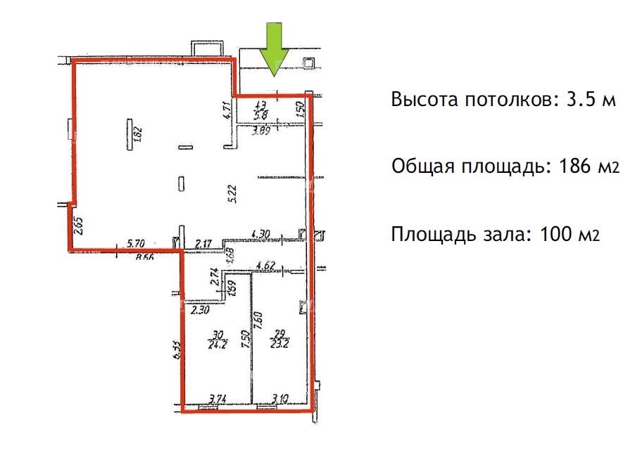 Аренда помещения 139 кв.м. Красносельский ул. Адмирала Черокова, 18  - на spret.realtor.ru - фотография №3
