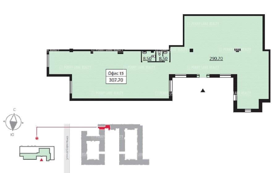 Аренда помещения 290 кв.м. Центральный пер. Басков, 2 - фотография №7