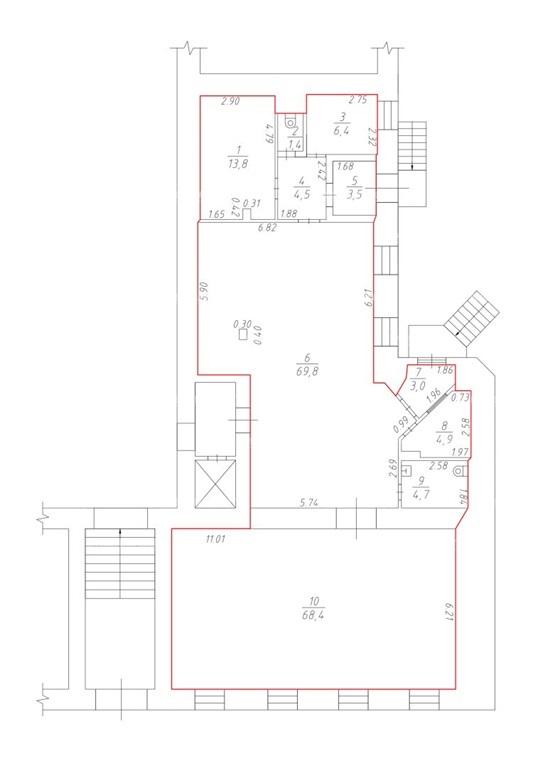 Аренда помещения 185 кв.м. Центральный ул. Пушкинская, 17 - фотография №4