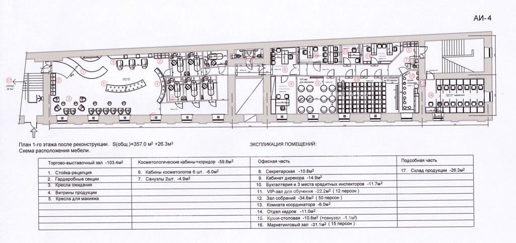 Аренда помещения 325.90 кв.м. Центральный пер. Шведский, 2 - фотография №3