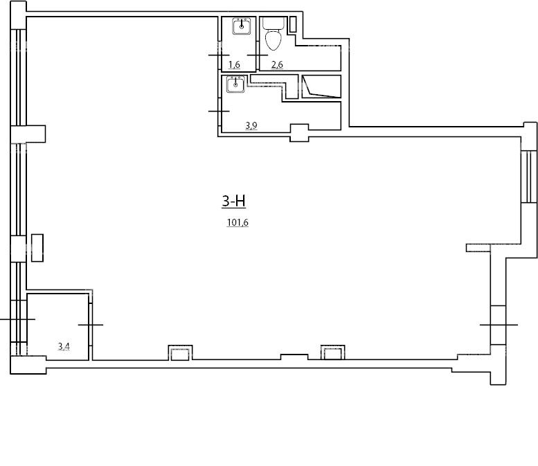 Аренда помещения 113.10 кв.м. Калининский пр-кт Маршала Блюхера, 9 - фотография №4