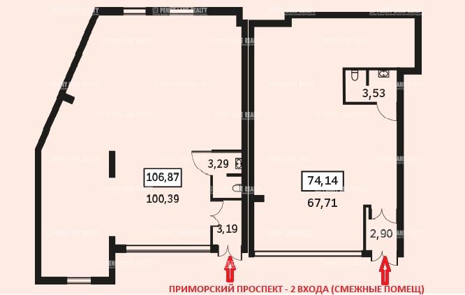Аренда помещения 176.20 кв.м. Приморский ул. Савушкина, 104 - фотография №7