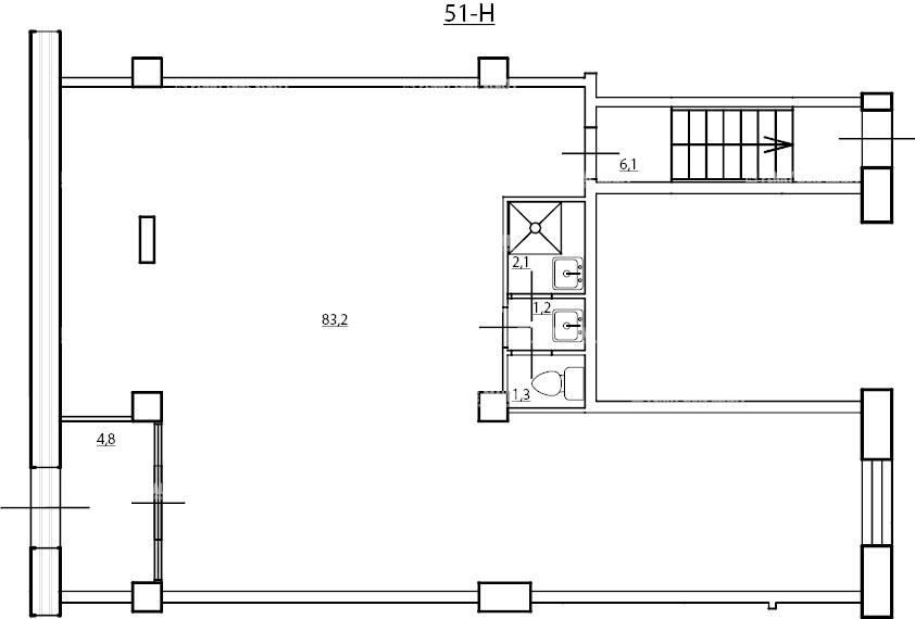Аренда помещения 98.70 кв.м. Приморский ул. Мебельная, 19 корпус 2 - фотография №5