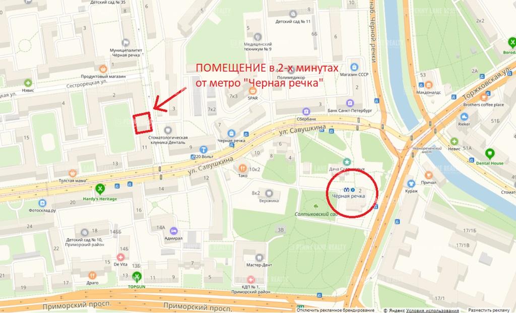 Продажа помещения 231 кв.м. Приморский пер. Карельский, 4 - фотография №3