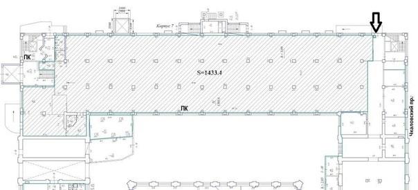 Закрытая аренда помещения 1433 кв.м  Петроградский