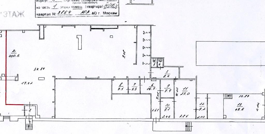 Аренда помещения 431 кв.м. ЮВАО б-р Хвалынский, 7/11к1 - фотография №5