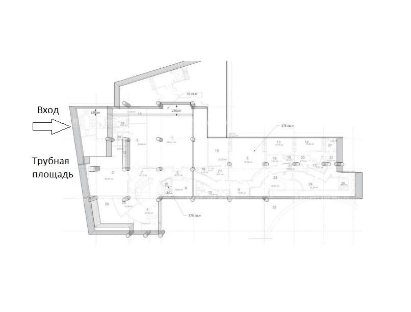 Аренда помещения 819 кв.м. ЦАО пл. Трубная, 2 - фотография №4