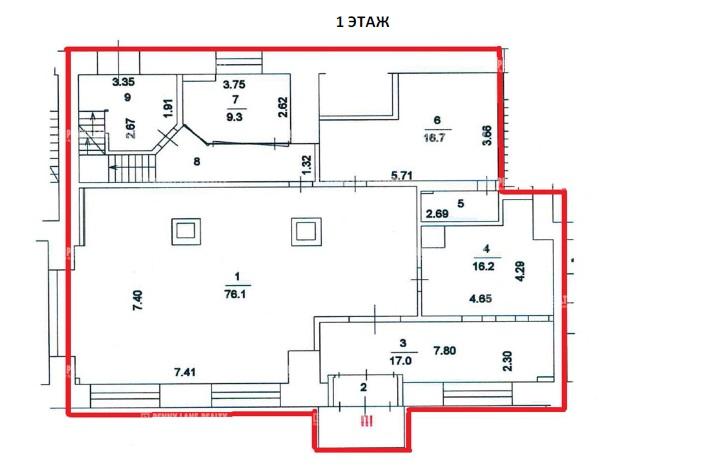 Аренда помещения 341 кв.м. ЮЗАО пр-кт Ленинский, 61/1 - фотография №3