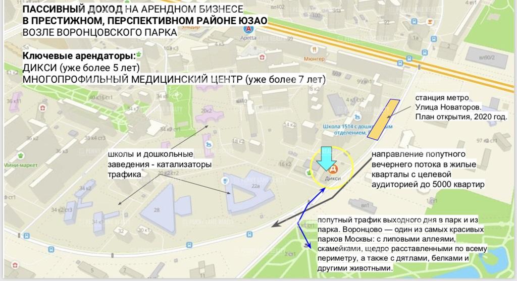 Закрытая продажа помещения 1650 кв.м  ЮЗАО - на retail.realtor.ru