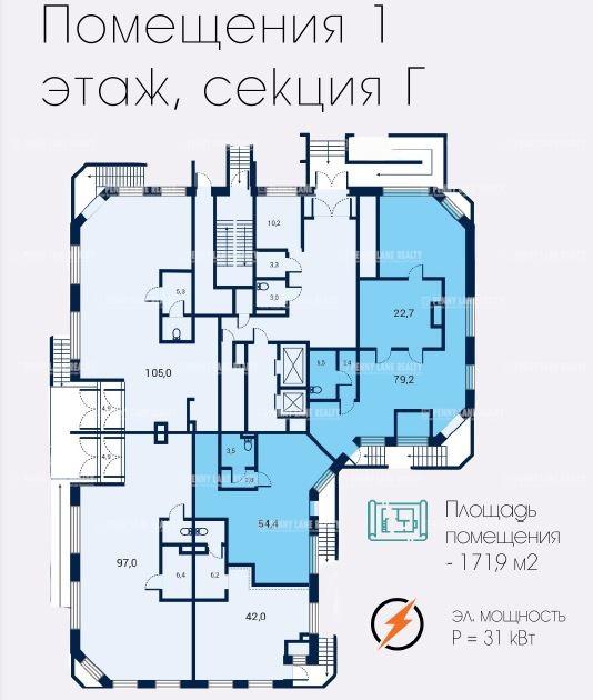 Закрытая продажа помещения 171.90 кв.м  СЗАО